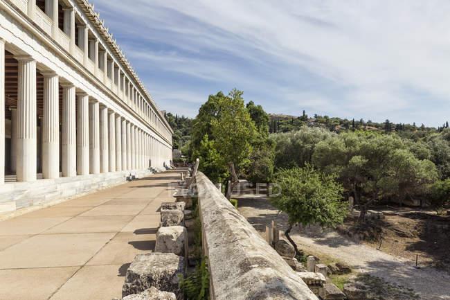 Греція, Афіни, стародавня Агора, стоа з Аттальос — стокове фото