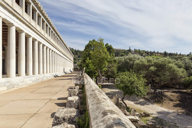 Greece, Athens, Ancient Agora, Stoa of Attalos — стокове фото