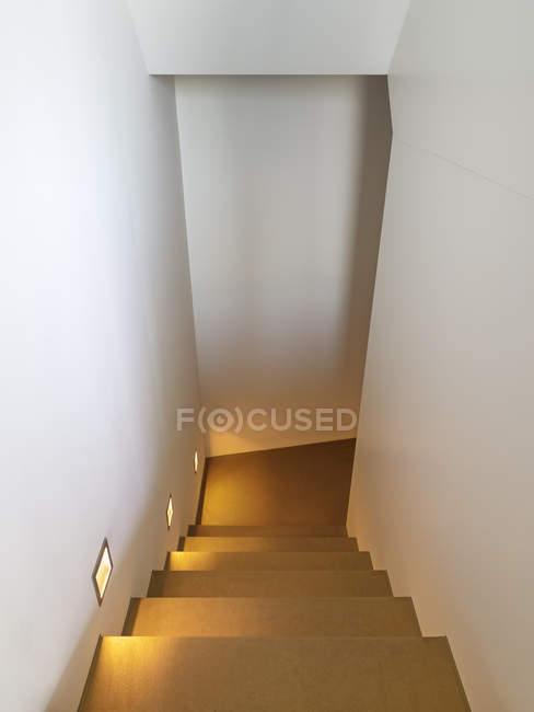 Interior with Staircase in a modern villa — Stock Photo