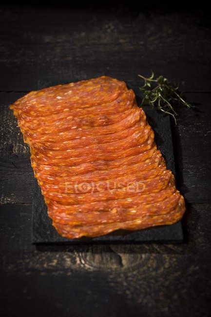 Würzige Salami Spianata Calabra — Stockfoto