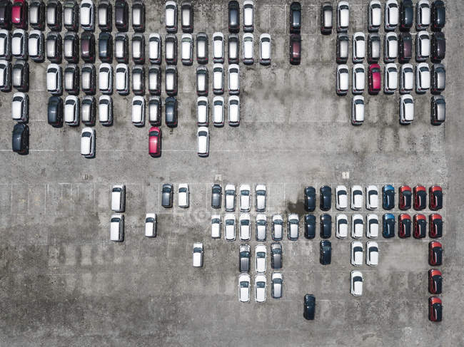 Indonesia, Bali, Aerial view of car park — Stock Photo