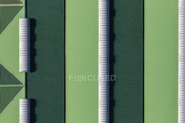 Germany, Bavaria, Chiemgau, Aerial view of roof of a storage — Stock Photo