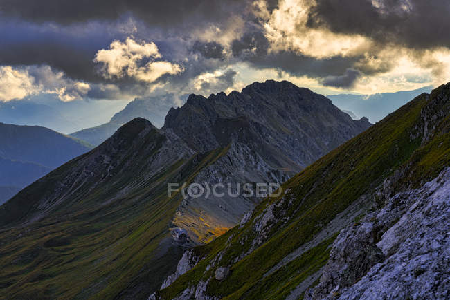 Italia, Véneto, Dolomitas, Alta Via Bepi Zac - foto de stock