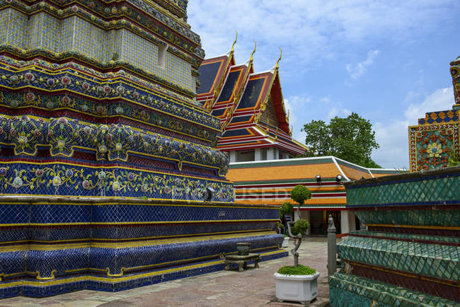 Thailand, Bangkok, Wat Pho, Phra Mondop Tempel — Stockfoto