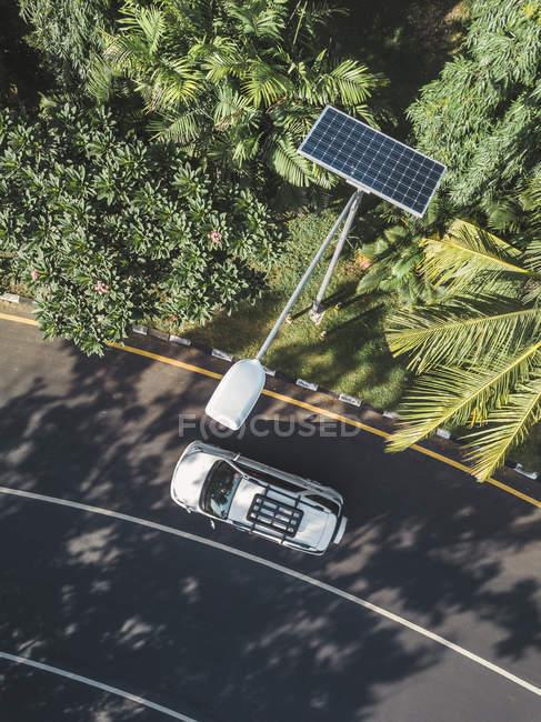 Indonésie, Bali, lampadaire solaire, vue aérienne — Photo de stock