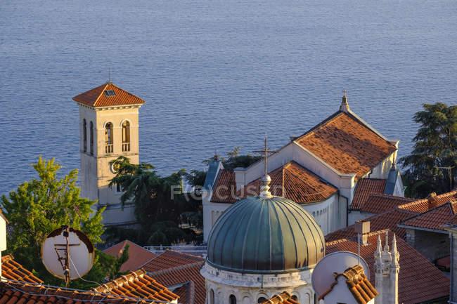 Montenegro, Bay of Kotor, Herceg Novi, old town at Adriatic coast — Stock Photo