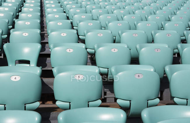 Croatia, Dalmatia, Sibenik, Row of seats of open air theater — Stock Photo