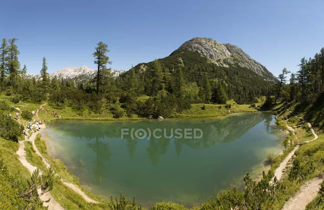 Österreich, Styria, Tauplitz, Totes Gebirge, Märchensee — Stockfoto