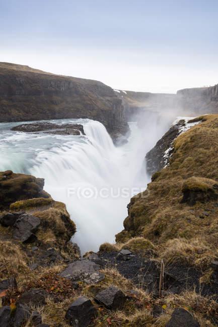 Islanda, Golden Circle, Cascata del Gullfoss — Foto stock