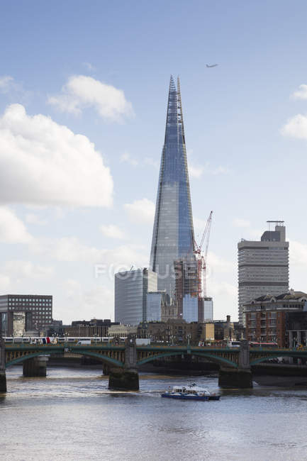 Uk, Londres, Southwark, Tamise, The Shard — Photo de stock