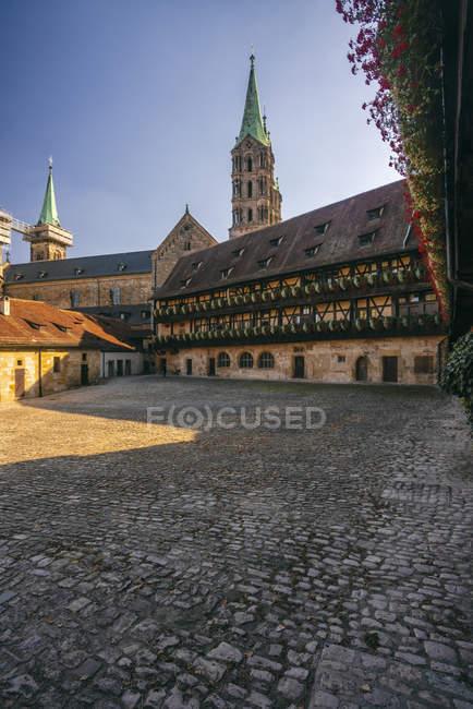 Deutschland, Bayern, bamberg, alte hofhaltung und bamberger dom — Stockfoto