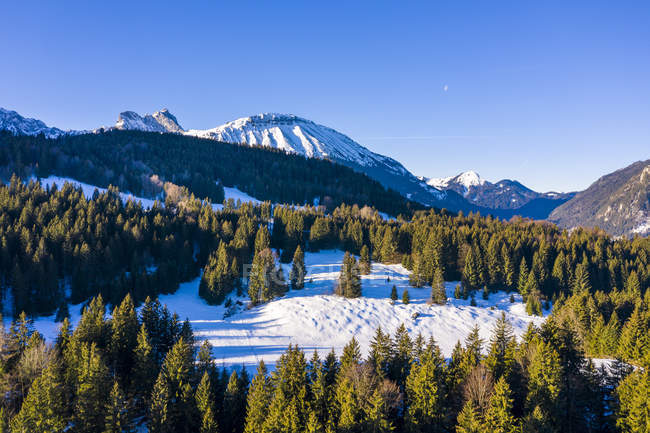 Germany, Bavaria, Allgaeuer Alps, Aggenstein in winter — Stock Photo