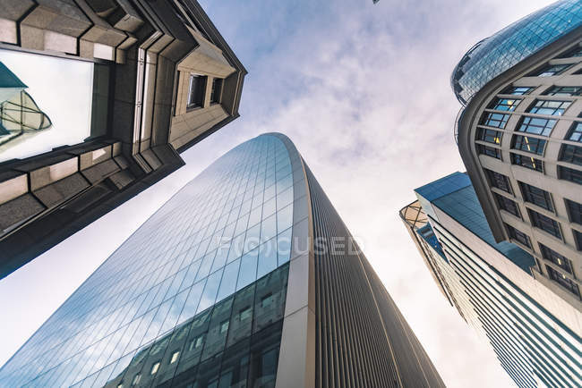 United Kingdom, England, London, modern financial disctrict, Liverpool street — Stock Photo