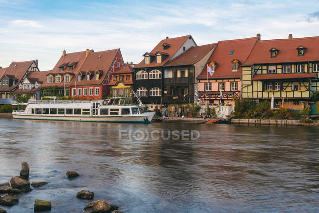 Germany, Bavaria, Bamberg, Little Venice and Regnitz river — Stock Photo