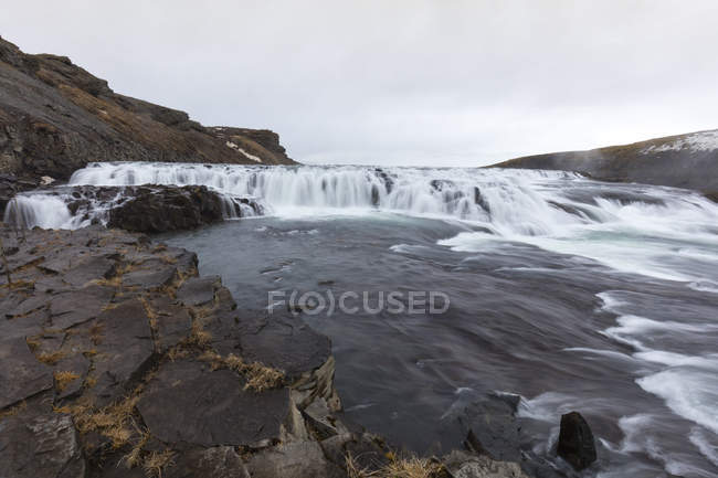 Iceland, Golden Circle, Gullfoss Waterfall — стоковое фото