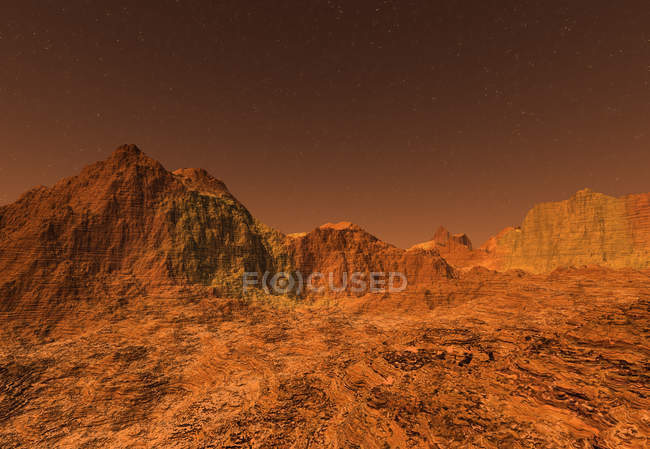 3D rendered Illustration of the surface of Planet Mars — Stock Photo