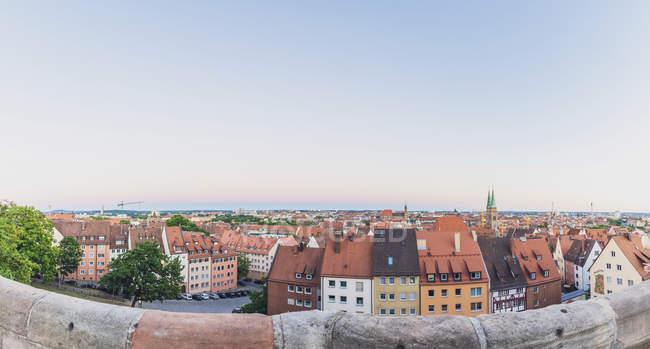 Germania, Norimberga, Città Vecchia, paesaggio urbano alla luce della sera — Foto stock