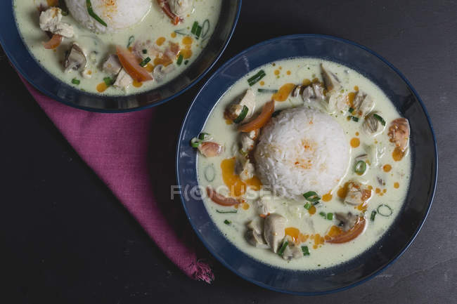 Tom Ka Gai, Thai-Suppe mit Huhn — Stockfoto