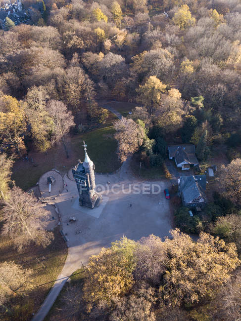 Germany, Wuppertal, Aerial view of Elise tower in autumn — Stock Photo