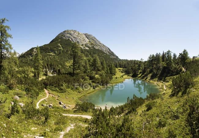 Austria, Styria, Tauplitz, Totes Gebirge, Lake Maerchensee — Stockfoto