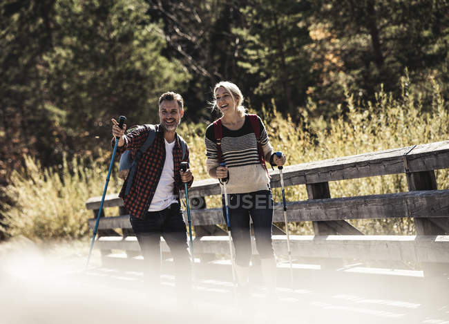 Austria, Alps, couple on a hiking trip — Stock Photo