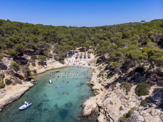 Spagna, Maiorca, Veduta aerea della baia Cala Falco — Foto stock