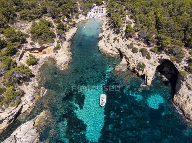 Spagna, Maiorca, Veduta aerea della baia Cala Falco e Cala Bella Donna — Foto stock