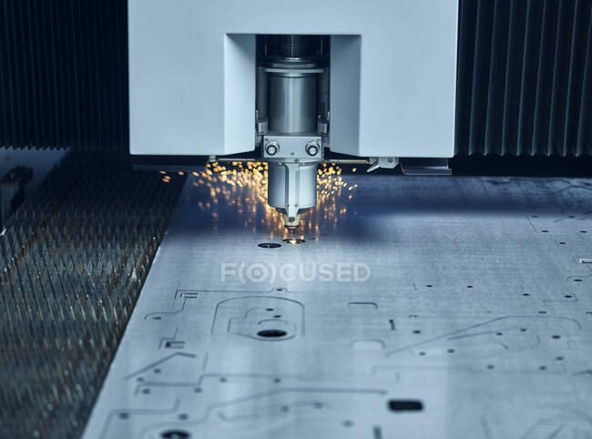 Збільшений лазерний затвор — стокове фото