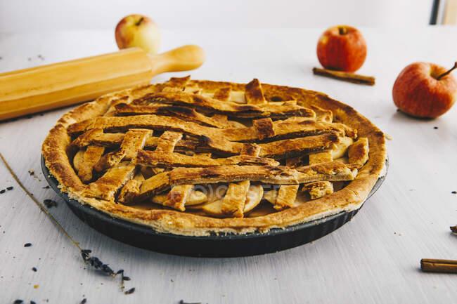 Torta di mele fatta in casa — Foto stock