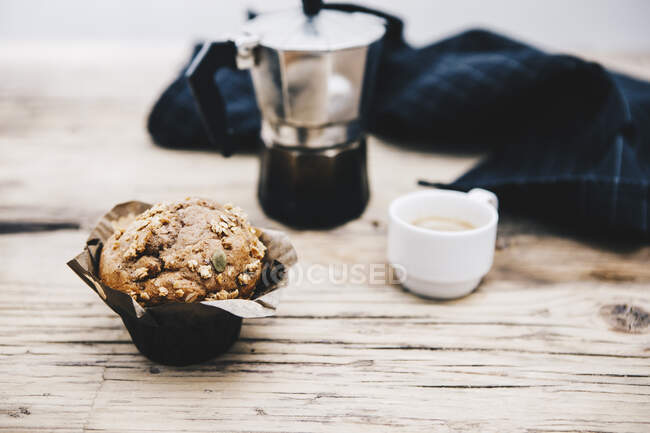 Home-baked muffin with muesli — Foto stock