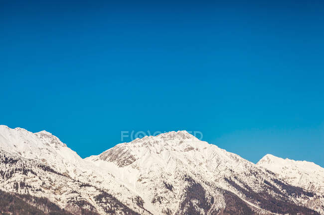 Austria, Tyrol, Snow-capped Alps near Innsbruck — Stock Photo