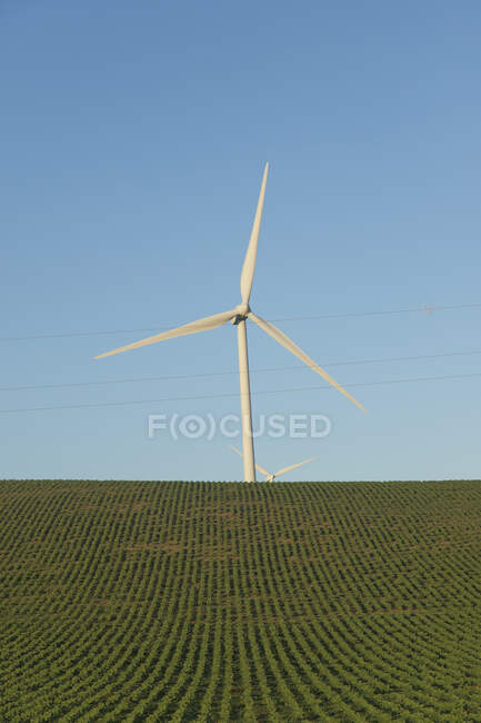 Испания, Андалусия, ветряная турбина — стоковое фото