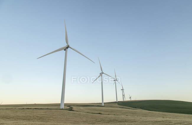 Испания, Андалусия, ветряные турбины — стоковое фото