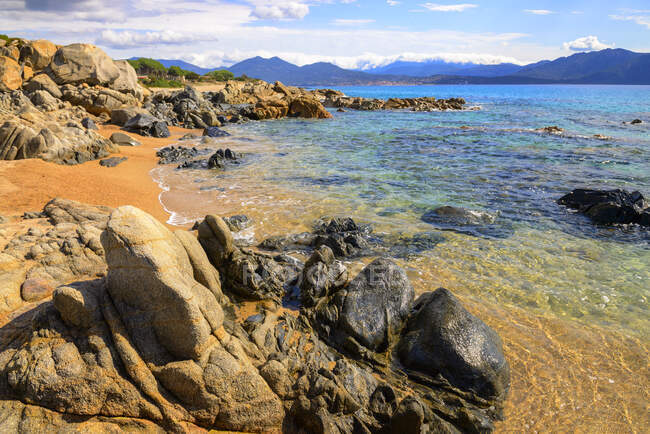 France, Corsica, Propriano, rocky seafront — Stock Photo