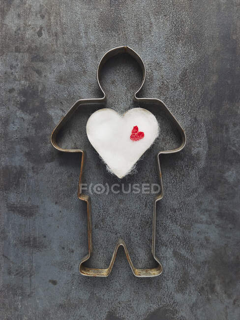 Close up of Male cookie cutter — Stock Photo