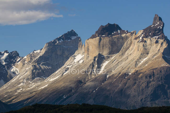 Chile, Patagonia, Torres del Paine National Park, mountainscape — Stock Photo
