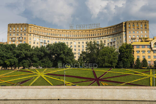 Russia, Moscow seen from a river cruise along the Moskva — Stock Photo