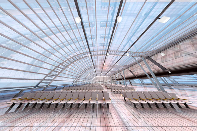 3D Rendered Illustration, Architecture visualization of a airport — Stock Photo