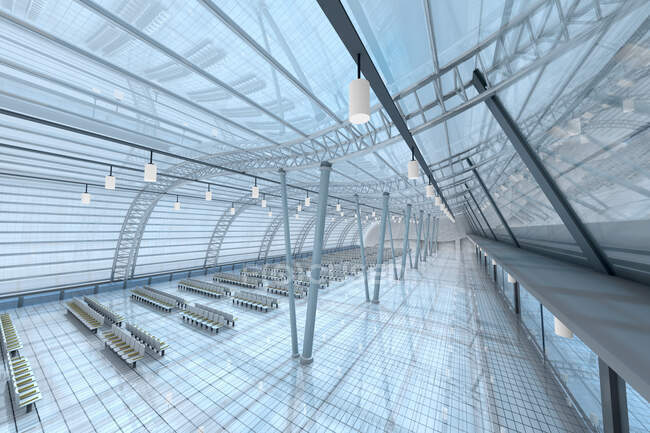 3D Rendered Illustration, Architecture visualization of an airport — Stock Photo