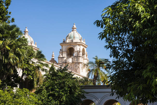 Estados Unidos, California, San Diego, Balboa Park, Teatro Casa Del Prado - foto de stock