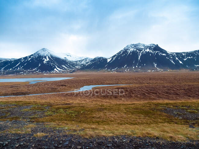 Iceland, Snaefellsjoekull National Park early in the morning in winter — Stock Photo