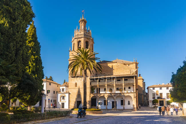 España, Andalucía, Provincia Málaga, Ronda, Santa Maria la Mayor - foto de stock
