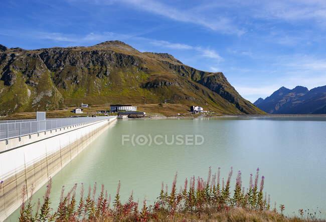 Áustria, Vorarlberg, Bielerhoehe, Silvretta Reservatório — Fotografia de Stock