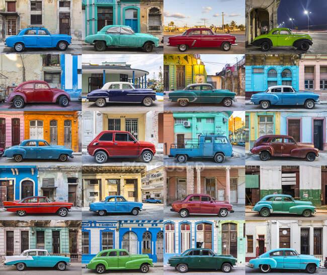 Coches antiguos, La Habana, Cuba - foto de stock