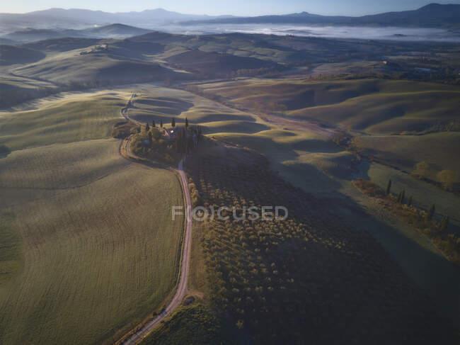 Podere Belvedere, Toscane, Italie — Photo de stock