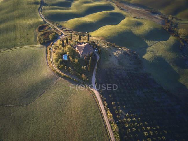 Podere Belvedere, Toscana, Italia - foto de stock