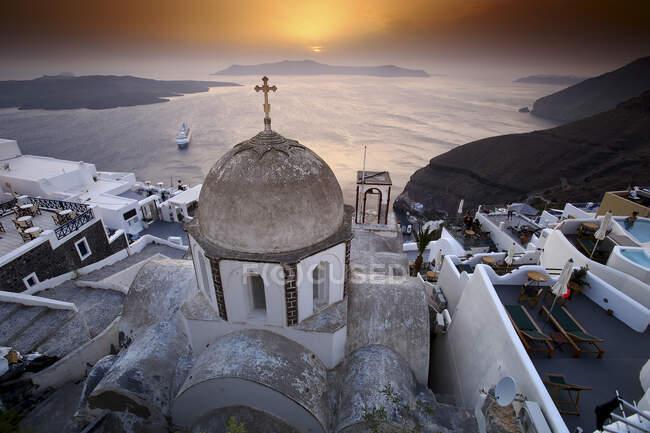 Vista panoramica di Oia, Santorini, Grecia — Foto stock