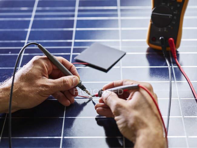 Технический измерительный резистор кремниевого солнечного элемента — стоковое фото