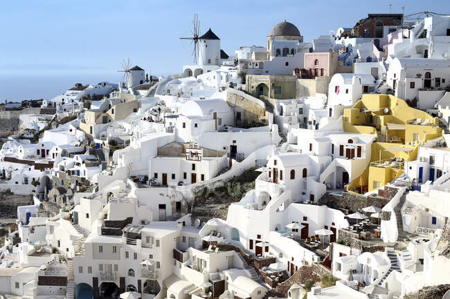 View over Oia, Santorini, Greece - foto de stock