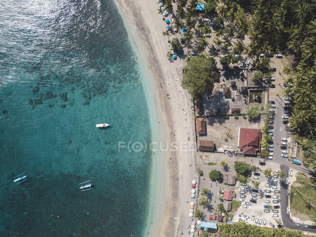Aerial view of Crystal Bay, Nusa Penida Island, Bali, Indonesia — Stock Photo